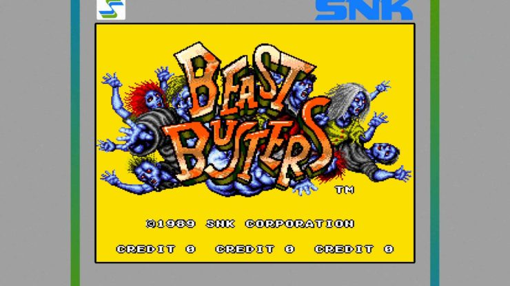 Beast Busters Arcade - Photo Credit: SNK/Hamachi, Papa and Team, Images Design via NIS America