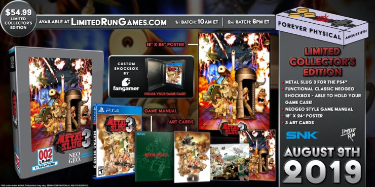 Metal Slug 3 AES Classic Collector's Edition for PlayStation 4 - Photo Credit: Limited Run Games / SNK