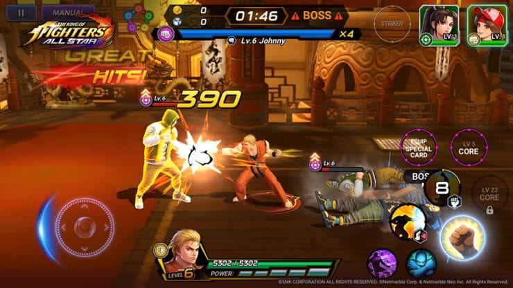 The King of Fighters ALLSTAR - Ryo fights - Photo Credit: SNK Corporation / Netmarble Corp. & Netmarble Neo