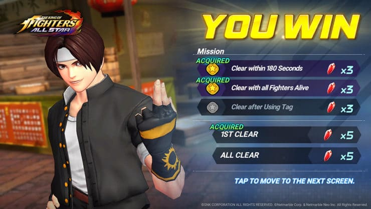 The King of Fighters ALLSTAR - Kyo Wins - Photo Credit: SNK Corporation / Netmarble Corp. & Netmarble Neo