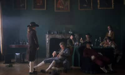 Barry Lyndon - Directed by Stanley Kubrick - Lord-Bullingdon's Duel Challenge - Pictured (From left to right) Leon Vitali and Ryan O'Neal - Photo Credit: Warner Bros. Entertainment Inc.