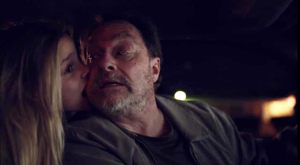 "Stephen Root as Monroe Fuches and Jessie Giacomazzi as Lily Proxin in HBO's Barry Season 2 Episode 5 ""ronny/lily"" - Screenshot / Photo Credit: HBO"