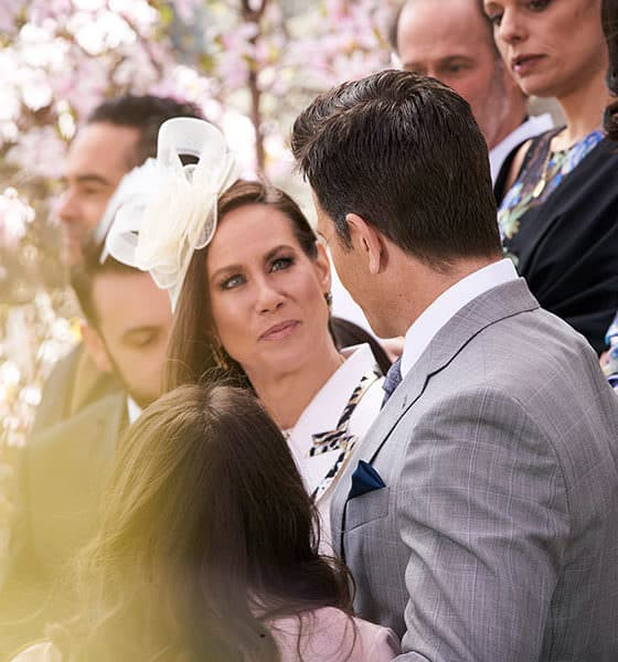 """Younger Season 6 Episode 7 """"Friends with Benefits"""" - Pictured from left to right: Miriam Shor as Diana Trout and Chris Tardio as Enzo - Photo Credit: TV Land"""