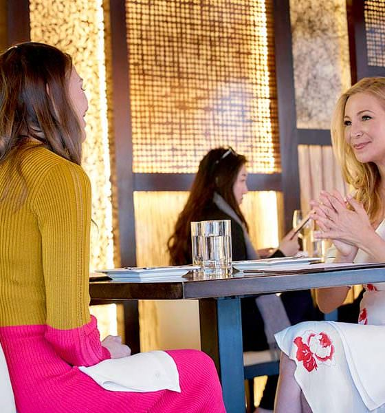 """Younger Season 6 Episode 8 """"The Debu-Taunt"""" live stream- Pictured from left to right: Sutton Foster as Liza Miller and Jennifer Westfeldt as Pauline - Photo Credit: TV Land"""