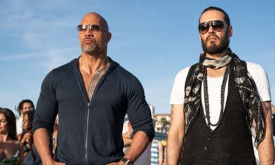 """Ballers - Pictured from left to right: Dwayne """"The Rock"""" Johnson as Spencer Strasmore and Russell Brand as Lance Klians - Photo Credit: HBO"""