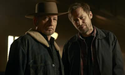 Steven Conrad's (co-creator) Perpetual Grace, LTD - Pictured from left to right: Sir Ben Kingsley as 'Pa' Pastor Byron Brown and Jimmi Simpson as James - Photo Credit: Lewis Jacobs / EPIX
