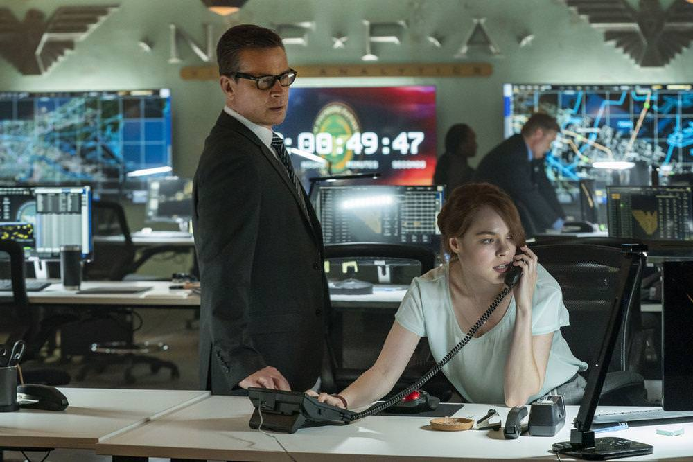 """THE PURGE -- """"Should I Stay Or Should I Go"""" Episode 207 -- Pictured: (l-r) Connor Trinneer as Curtis, Charlotte Schweiger as Vivian Ross -- (Photo by: Alfonso Bresciani/USA Network)"""