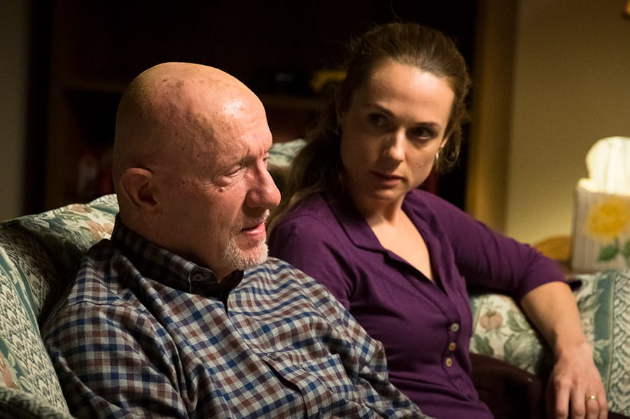 Stacey Ehrmantraut and Mike Ehrmantraut - Jonathan Banks as Mike Ehrmantraut, Kerry Condon as Stacey Ehrmantraut – Better Call Saul _ Season 4, Episode 4 – Photo Credit: Nicole Wilder/AMC/Sony Pictures Television