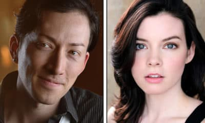 Anime NYC 2019 Interview - Pictured: Sword Art Online's Todd Haberkorn on left, Cherami Leigh on right - Photo Credit: Todd Haberkorn / Paul Smith Photography