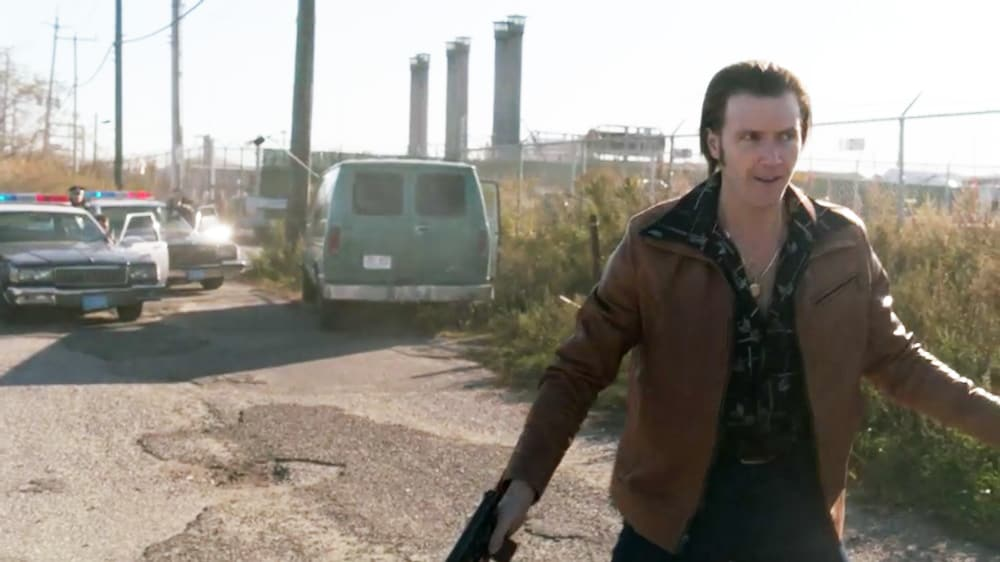 """Young Mickey Donovan fake surrenders on Showtime's Ray Donovan Season 7 Episode 7 """"The Transfer Agent"""" - Screenshot/Photo Credit: Showtime"""