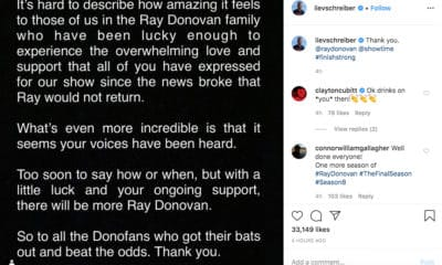 Ray Donovan may continue - Photo Credit: Liev Schreiber's Instagram