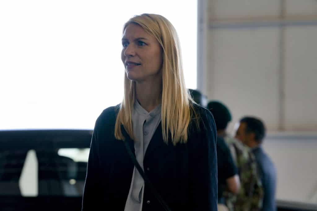 """Homeland Season 8 Episode 4 - Claire Danes as Carrie Mathison in HOMELAND, """"Chalk One Up"""". Photo Credit: Warrick Page/SHOWTIME"""