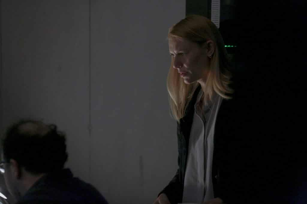 Claire Danes as Carrie Mathison in HOMELAND,