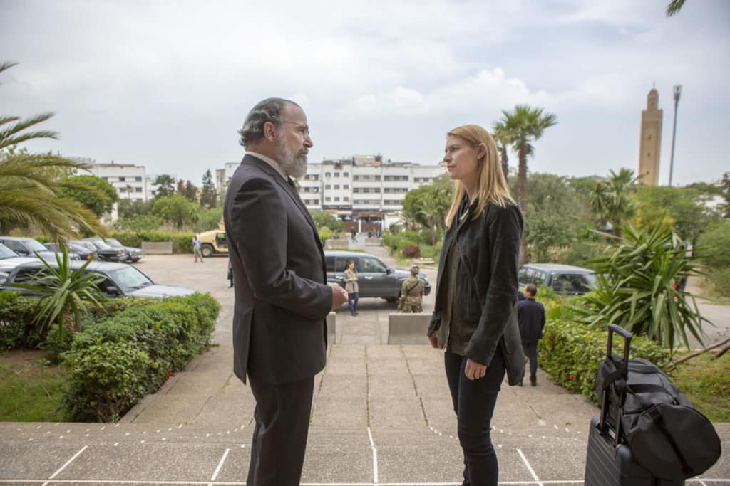 """(L-R): Mandy Patinkin as Saul Berenson and Claire Danes as Carrie Mathison HOMELAND, """"Two Minutes"""". Photo Credit: Sifeddine Elamine/SHOWTIME."""