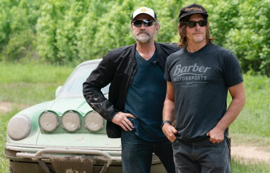 Ride with Norman Reedus - Season 4 Premiere - Georgia with Rooker - Pictured from left to right (L-R): Michael Rooker and Norman Reedus in Episode 1. - Photo Credit: Jace Downs/AMC