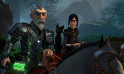 Merlin and Douxie on Netflix/Dreamworks' Wizards: Tales of Arcadia - Photo Credit: Netflix