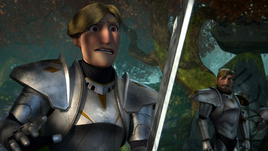 Steve and Lancelot in Wizards: Tales of Arcadia - Photo Credit: Netflix / Dreamworks