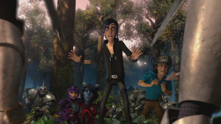 Claire, Jim, Douxie, and Steve in Wizards: Tales of Arcadia - Photo Credit: Netflix / Dreamworks