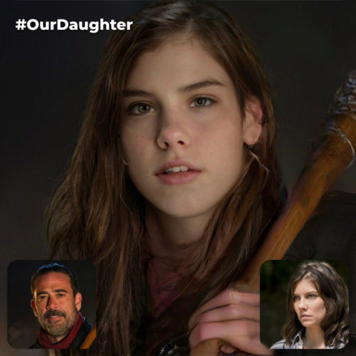 Negan and Maggie Greene's Fictional Daughter (Negan is Dominant Side) [*Non-Canon]