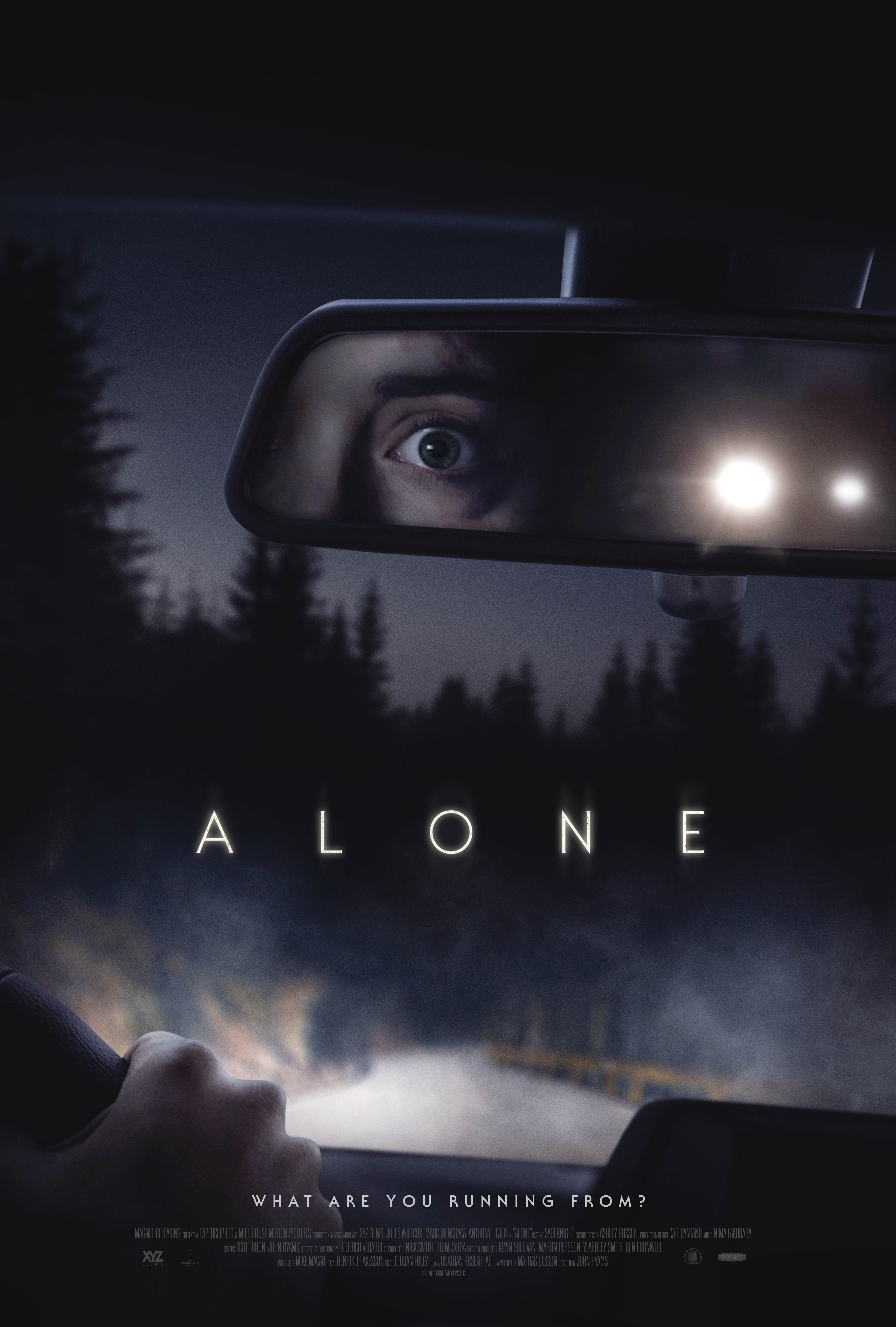 Theatrical one-sheet for ALONE, a Magnet release. Photo courtesy of Magnet Releasing.