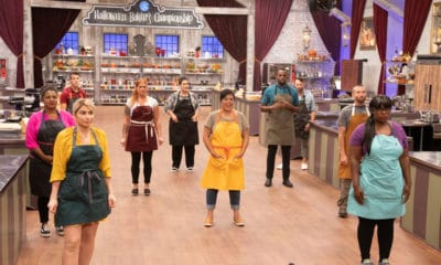 Contestants Aaron Clouse, Brian Bosch, Edward Cunningham, Holly Braddock, Michael Gaddy, Michelle Lee, Nerwan Khalife, Renee Loranger, Sinai Vespie, Tamara Brown, as seen on Halloween Baking Championship, Season 6. - Photo Credit: Courtesy of Food Network