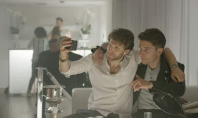 "(L-R) Keegan Allen as Cole and Ronen Rubinstein as Alexei in the horror/thriller film ""NO ESCAPE"" a Vertical Entertainment release. Photo courtesy of Vertical Entertainment."