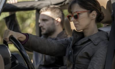 The Walking Dead: World Beyond Series Premiere live stream - Annet Mahendru as Huck, Nico Tortorella as Felix - The Walking Dead: World Beyond _ Season 1, Episode 1 - Photo Credit: Zach Dilgard/AMC