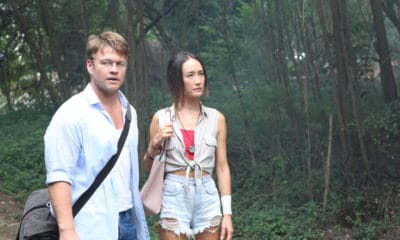"""(L-R) Luke Hemsworth as Neil and Maggie Q as Christine in the horror / thriller, """"DEATH OF ME,"""" a Saban Films release. Photo Courtesy of Saban Films."""