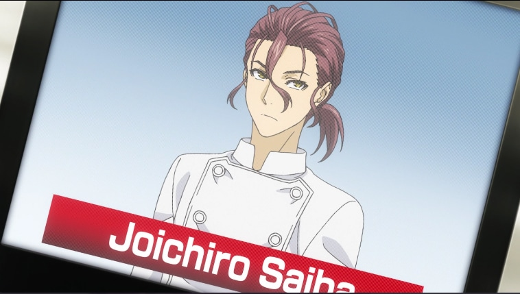 Joichiro Saiba in Food Wars! Season 3 'The Third Plate'. Screenshot via VRV's HIDIVE Channel. Credit: J.C.Staff and Sentai Filmworks
