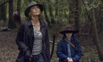Lauren Cohan as Maggie Greene and Cailey Fleming as Judith Grimes