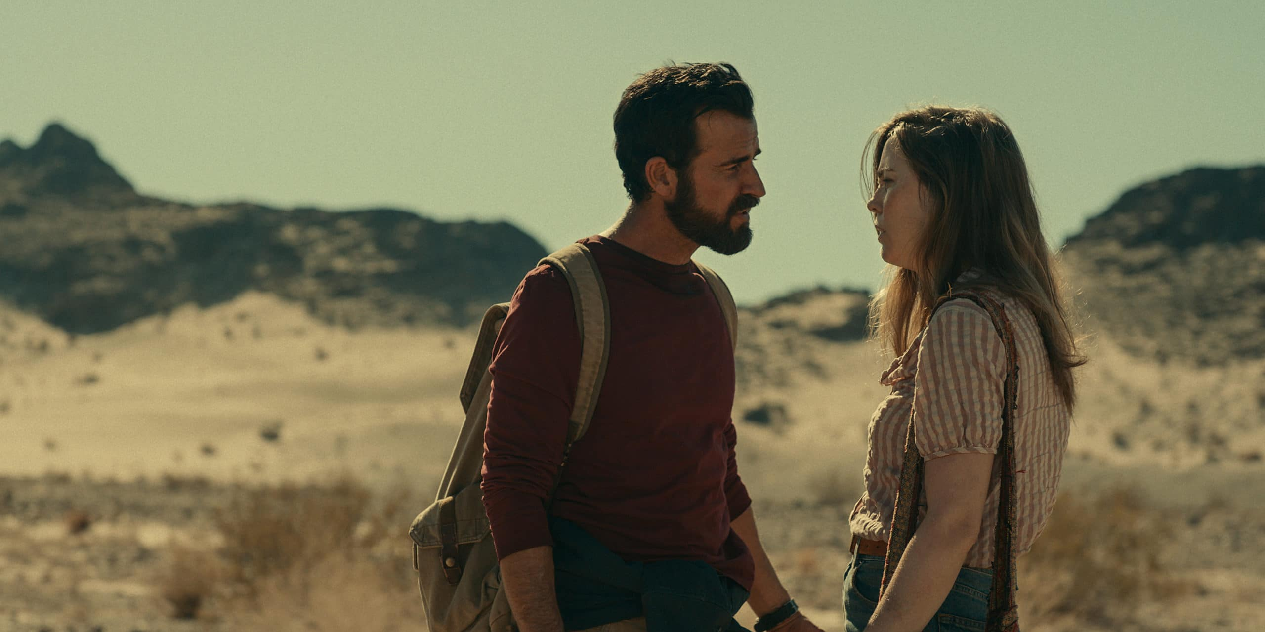 """Episode 3. Justin Theroux and Melissa George in """"The Mosquito Coast,"""" premiering April 30 on Apple TV+."""