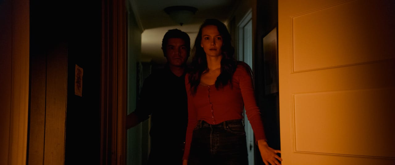 [L-R] Emile Hirsch as Paul and Andi Matichak as Laura in the horror film SON, a RLJE Films/Shudder release. Photo courtesy of RLJE Films and Shudder.