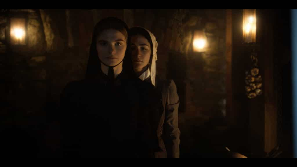 Stefanie Scott as Mary & Isabelle Fuhrman as Eleanor in 'The Last Thing Mary Saw'